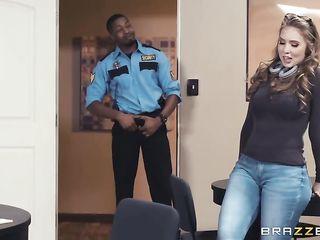 Security guard fucks porn star Lena Paul