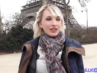 Sexy blonde chick went to Paris and had steamy anal sex with a handsome, local guy