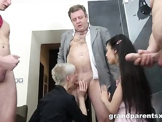 Director arranged an orgy with his employees in the office