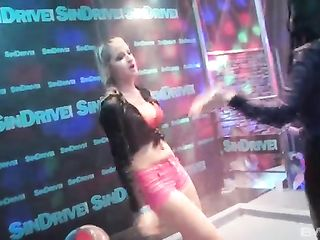 Depraved chicks dance in a club and participate in a swing party