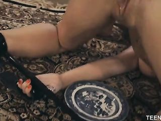 Hard fucks Lily Adams and makes lick cum