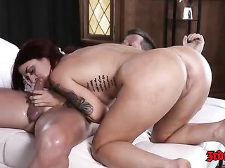 Fivesome with very experienced ladies