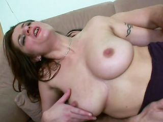 Busty whore skillfully rides cock