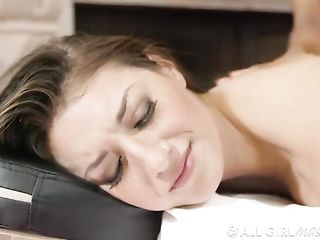 Latina does massage to a client in a mansion
