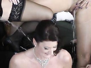 Friends pissing bride
