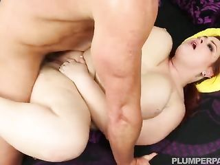 Dude in tattoo fucks a very fat redhead woman