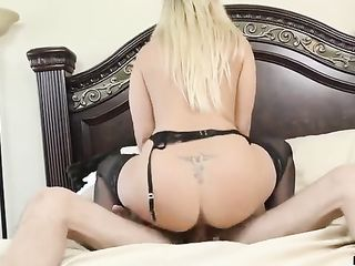 Blonde made lover anilingus before sex