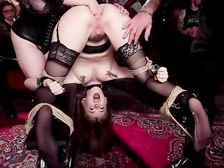 Party at the closed club of BDSM lovers