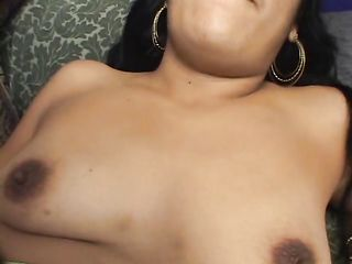 Indian woman gets fucked by two men and shows her hairy pussy in cum