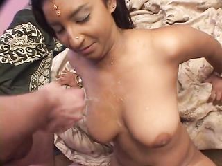 After indian sex ended up tanned breasts