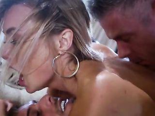 Two dicks fuck the beautiful Natalia Starr