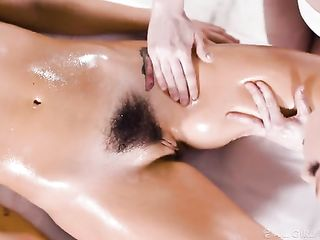 Lacy Lennon gives an intimate massage to Karlee Grey