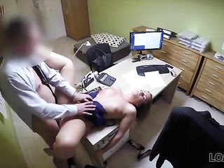 Doctor fucks patient on the table in the office