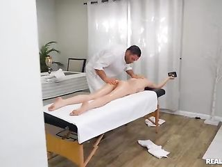The masseur had sex with a very beautiful blonde