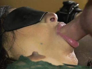 A man sucks a brunette's dick and fucks her in the ass