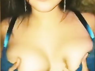 Cum on the juicy tits of an Indian girl