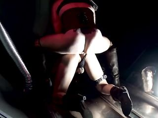 Two transsexuals in corsets fucking in the dark