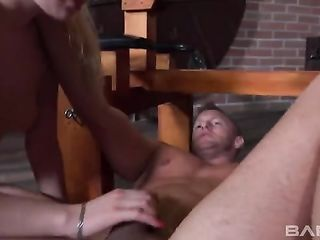 Bent and roughly fucked a blonde in the ass
