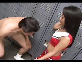 The wanker in the girl locker room