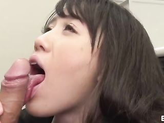 Boss forces young secretary to give a blowjob in the office