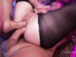 Hard Triple Penetration with Baby Bamby