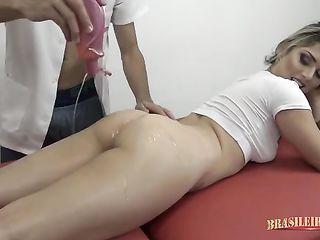 Brazilian fucks with a masseur